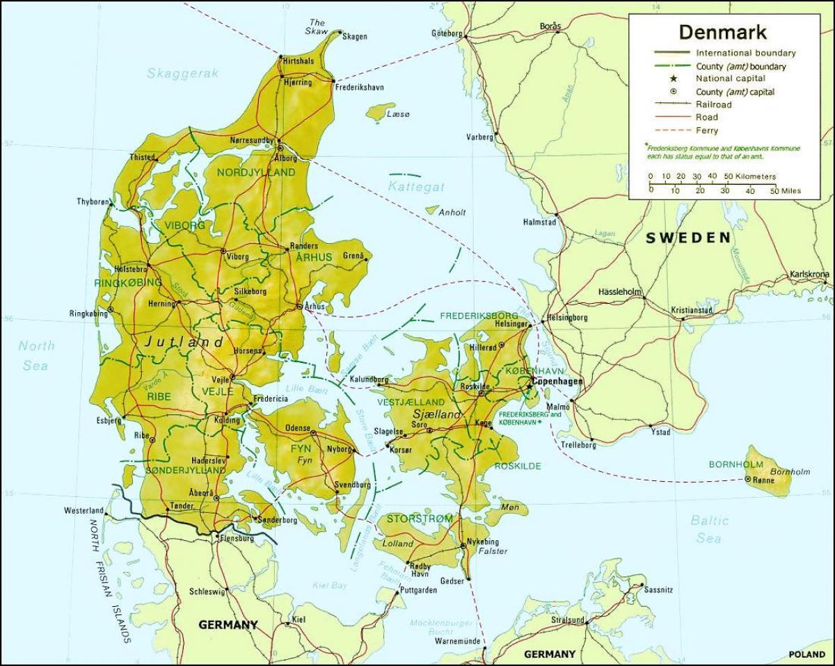Cartina Della Danimarca.Danimarca Geografia Mappa Mappa Della Danimarca Geografia