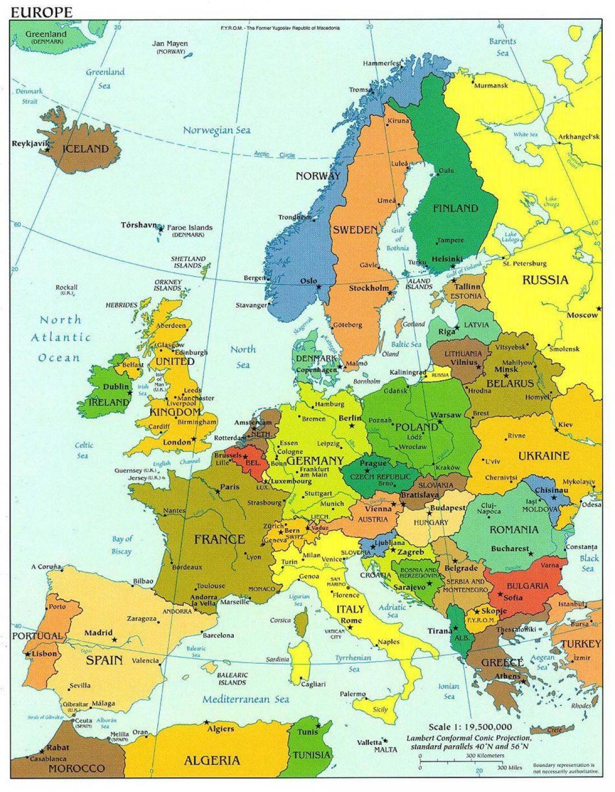 Cartina Nord.Danimarca Mappa Dell Europa Cartina Dell Europa Che Mostra La Danimarca Europa Del Nord Europa